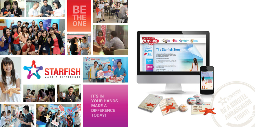 Singtel Starfish_graphic_design